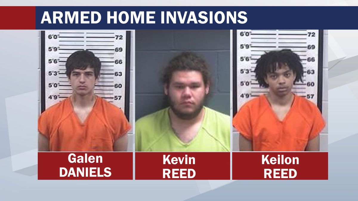 Galen Daniels, Kevin Reed and Keilon Reed were arrested for armed home invasions in Forest and...