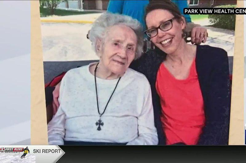 Ruth Stryzewski (left) of Oshkosh turns 109 in February after beating COVID-19