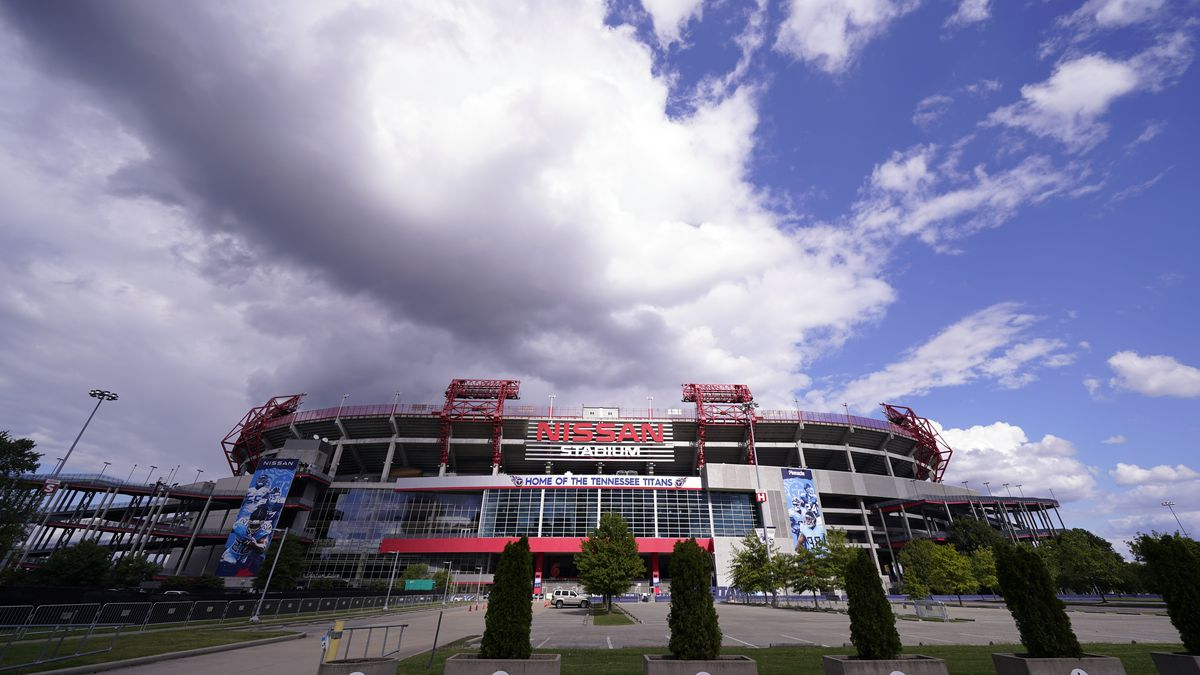 Nissan Stadium, home of the Tennessee Titans, is shown Tuesday, Sept. 29, 2020, in Nashville,...
