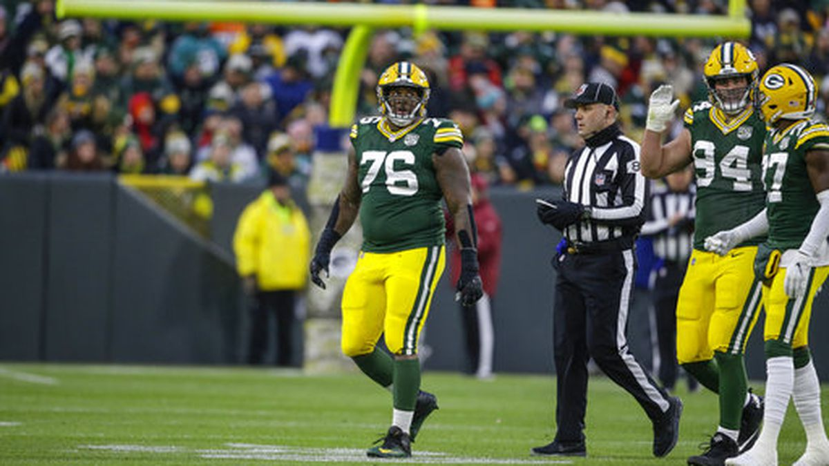 Green Bay Packers Mike Daniels (76) during an NFL football game Sunday, Nov. 11, 2018, in Green...