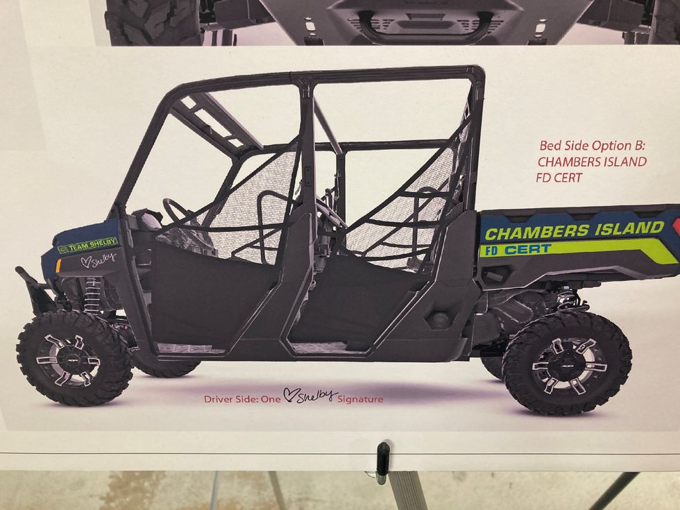 Funds are being raised for a UTV on Chambers Island.