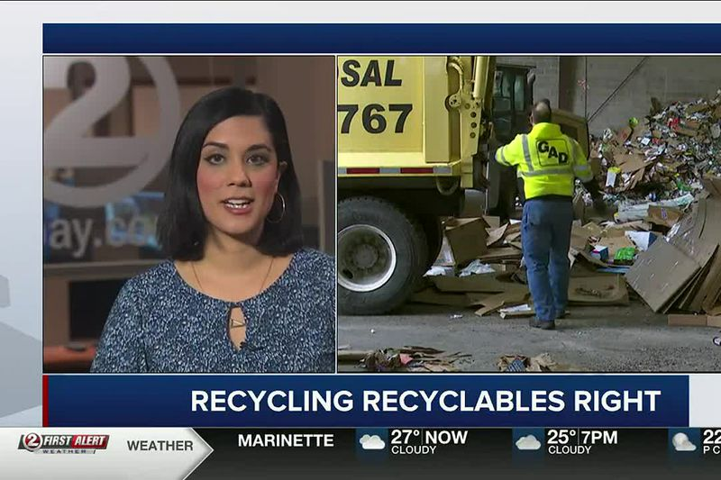 Aisha Morales discusses proper recycling and a request for people to reuse more