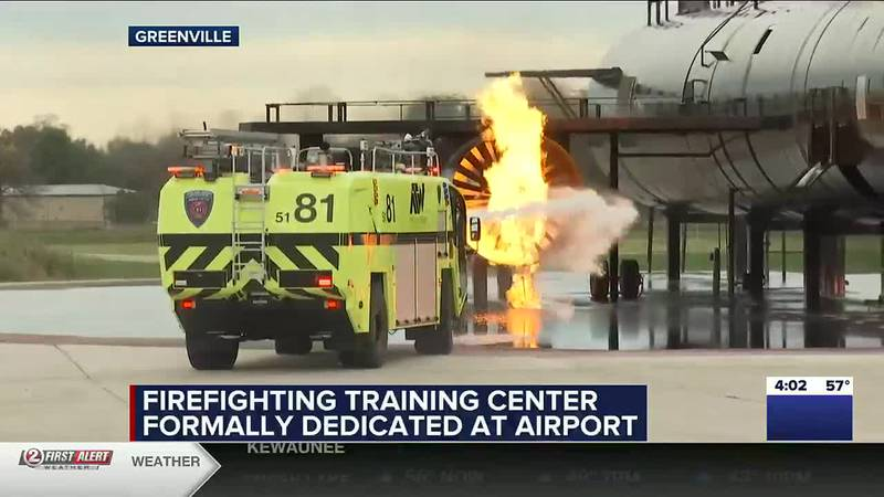 Aircraft Rescue and Fire Fighting training at Appleton airport