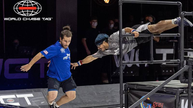 World Chase Tag combines the dynamic athleticism of Parkour with the age-old game of Tag.