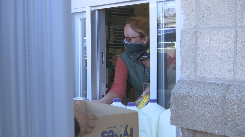 St. Joseph Food Program's drive-thru is now open.