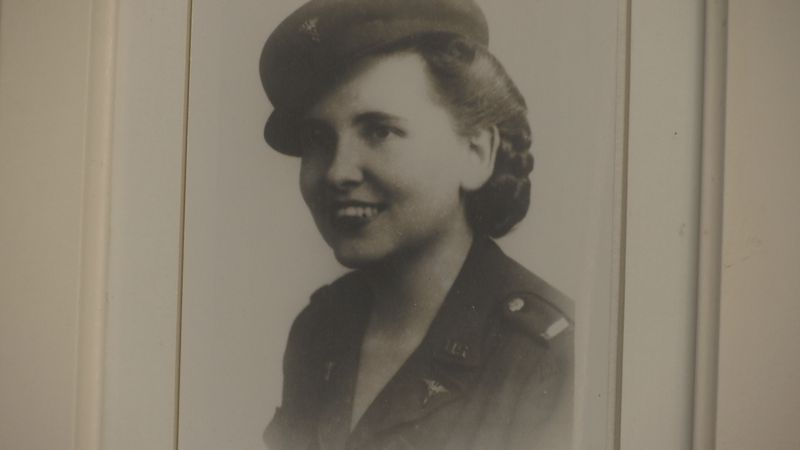 Mary Louise Benham Prange (1920 - 1988) of Green Bay was awarded with seven medals by U.S....