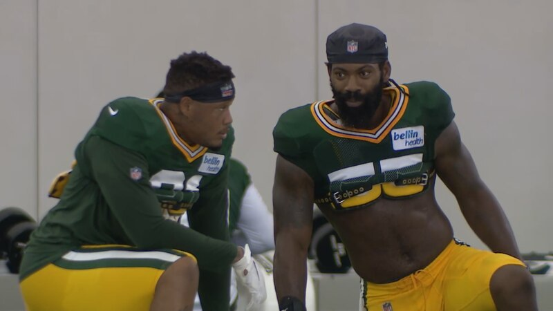 Packers practice on Aug 28, 2020