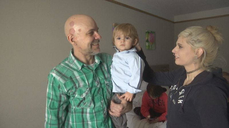 Jebb Filz of Appleton and his family were displaced by a fire on December 8. They're currently...