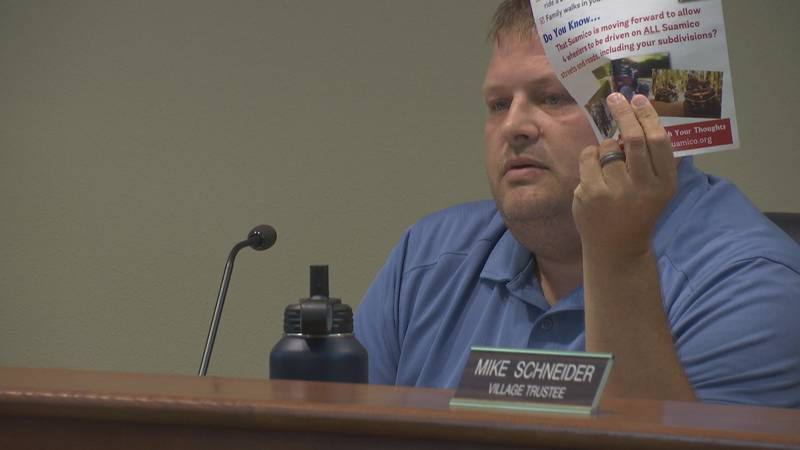 The Village of Suamico Trustees met on Monday night to discuss a proposed ordinance on allowing...