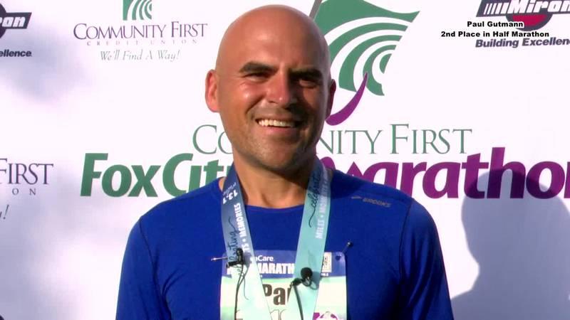 Fox Cities Men's Half Marathon 2nd Place Winner