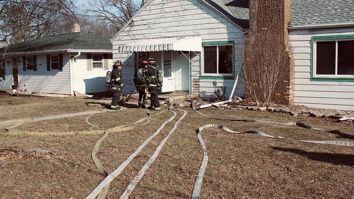 A home being remodeled on the 800 block of S. Fisk St. was damaged by a fire Wednesday afternoon.
