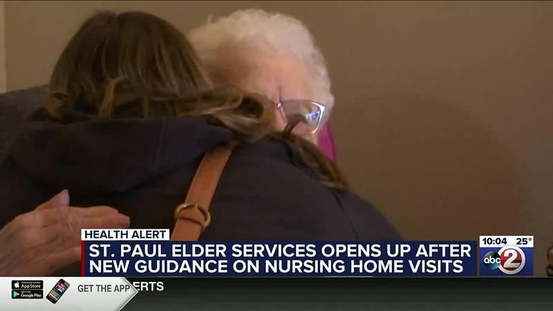WATCH: Nursing home visits return