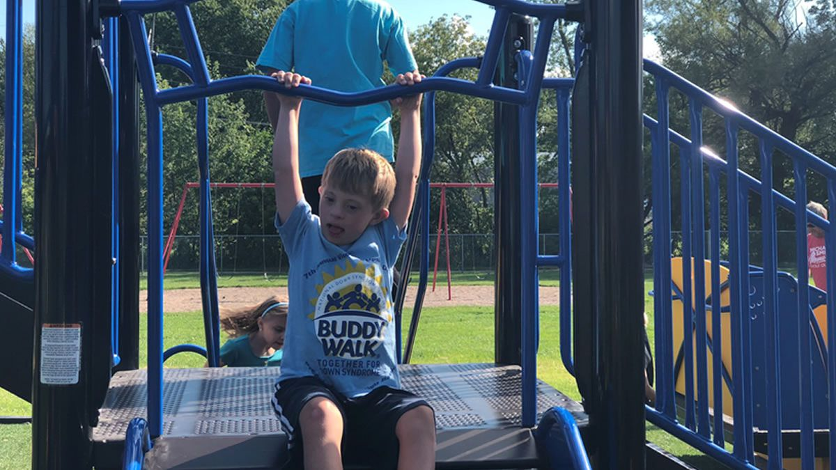 Rock River Intermediate School in Waupun opens its all-abilities playground (Photo: Shelly Haberman)