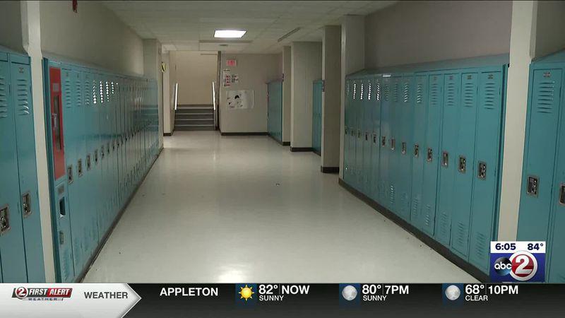 Empty hallway in an Appleton school