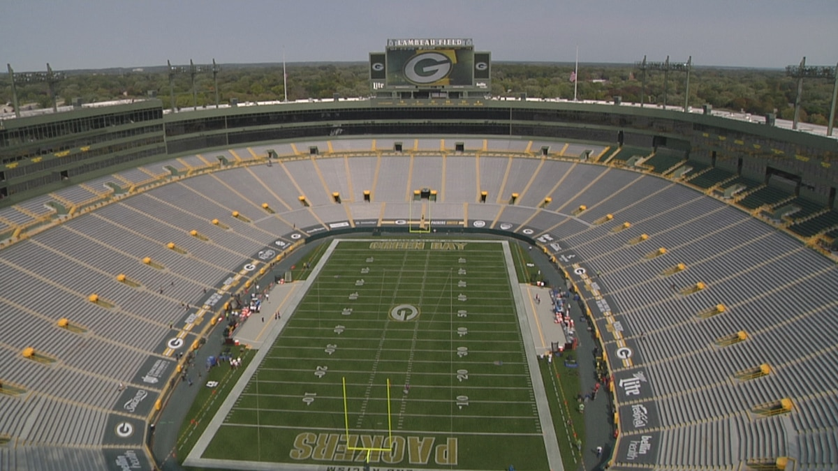 No fans inside Lambeau Field Sunday before the Packers hosted the Lions