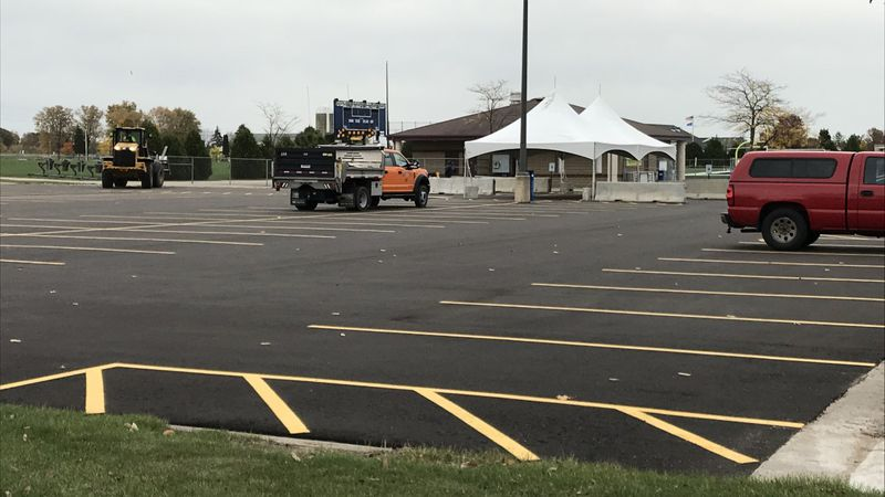 Preparations are underway at Appleton North High School to open a community COVID testing site.