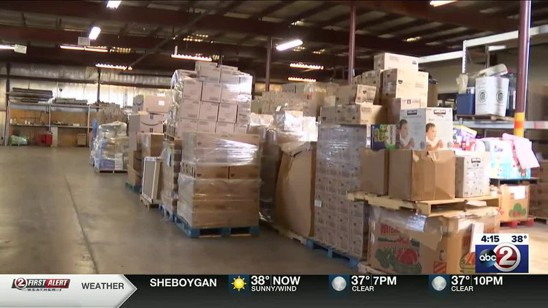Jake's Network of Hope warehouse