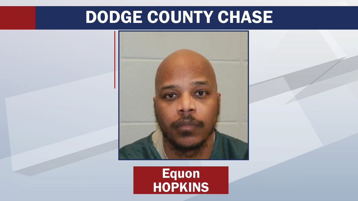 Equon Hopkins was arrested following a high-speed chase in Dodge County on July 29, 2020
