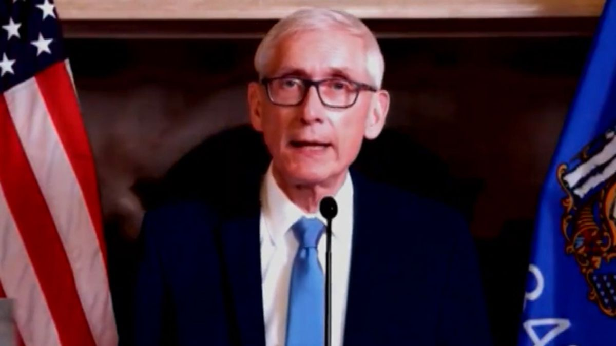 Gov. Tony Evers delivers his State of the State Address on Jan. 12, 2021