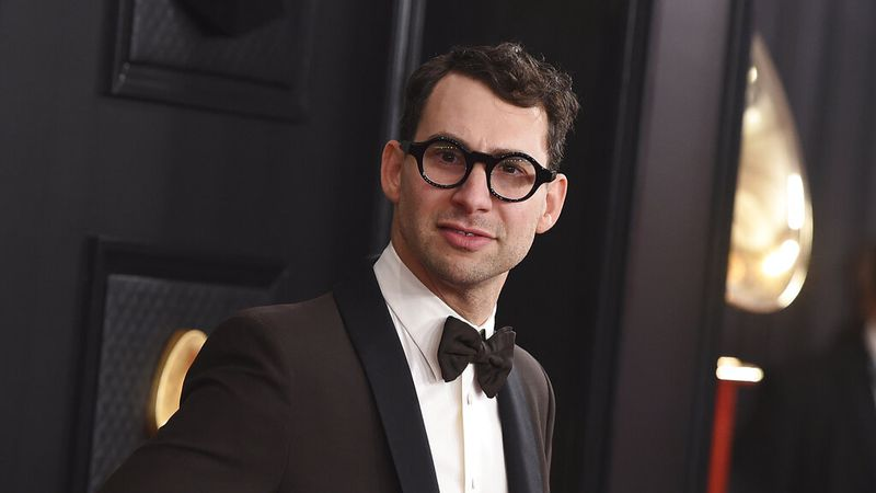 Jack Antonoff arrives at the 62nd annual Grammy Awards on Jan. 26, 2020, in Los Angeles....