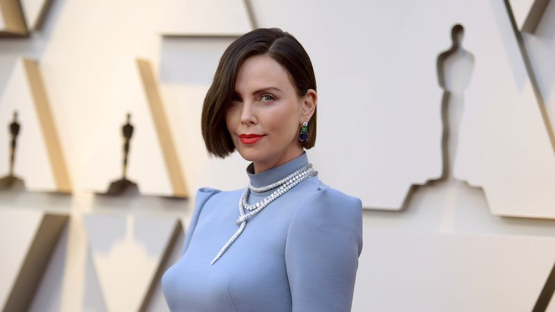Charlize Theron arrives at the Oscars on Sunday, Feb. 24, 2019, at the Dolby Theatre in Los...