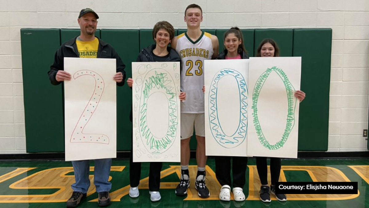 Sheboygan Lutheran senior Jacob Ognacevic has joined an exclusive club, the 2,000 point club.