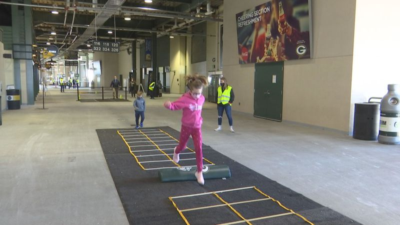 The course consisted of six different agility stations