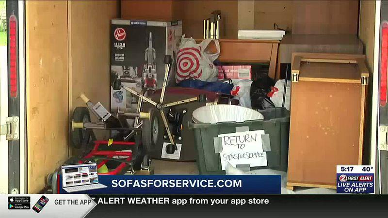 Area veteran receives special furniture delivery
