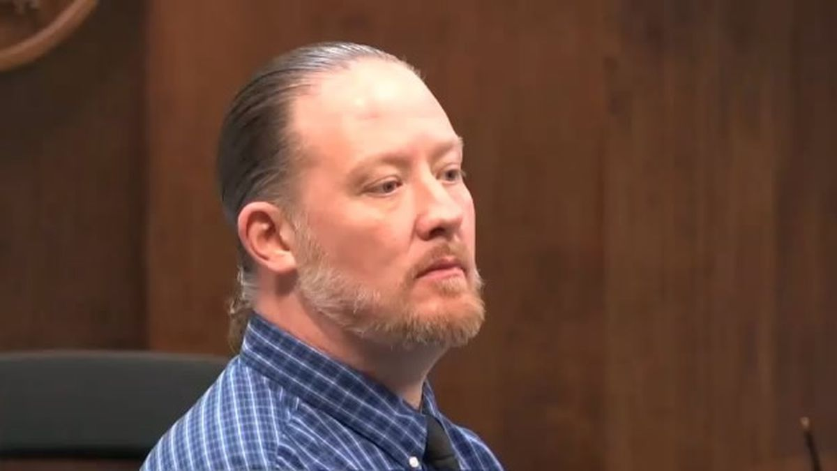 George Burch at jury selection for his trial on Feb 16, 2018 (WBAY photo)