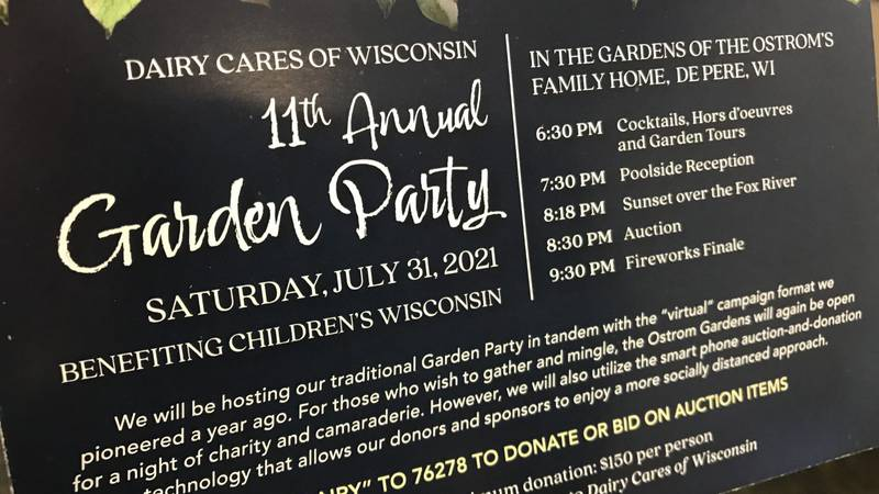 Dairy Cares is hosting its annual garden party of July 31, 2021.