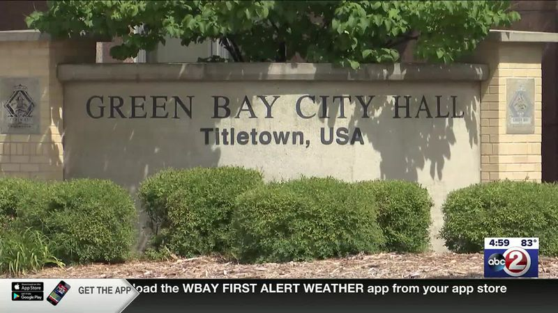 Sign outside Green Bay City Hall