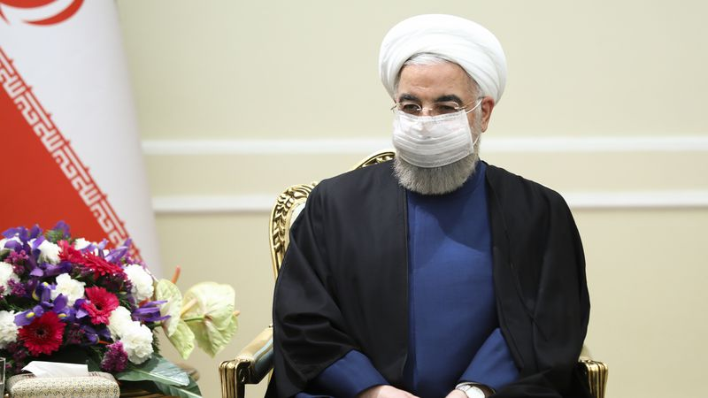In this photo released by the Russian Foreign Ministry Press Service, Iranian President Hassan...