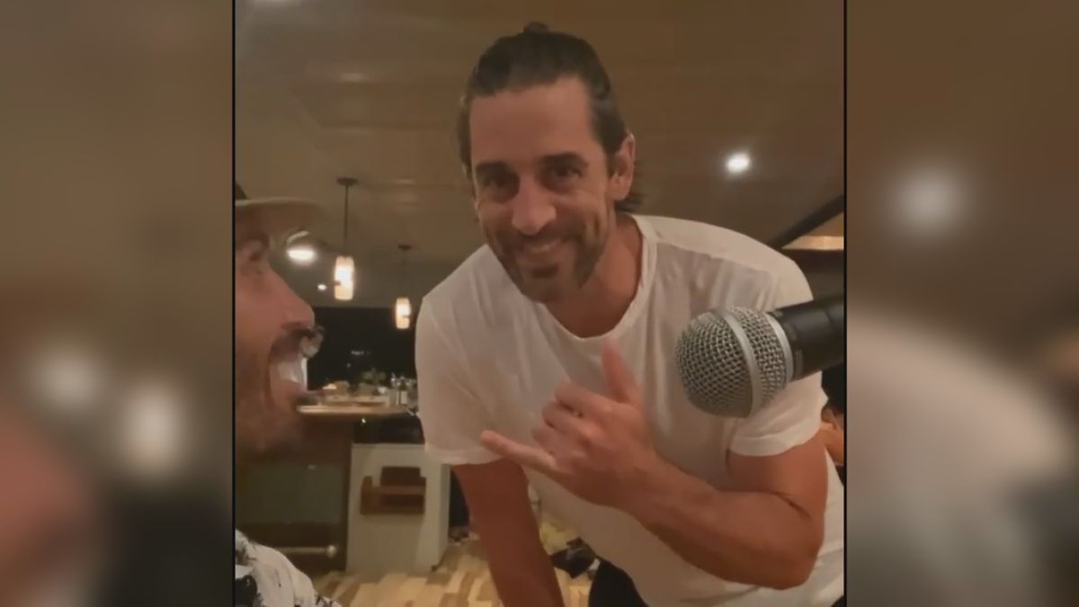 An Instagram video showing Packers quarterback Aaron Rodgers in Hawaii as voluntary Organized...