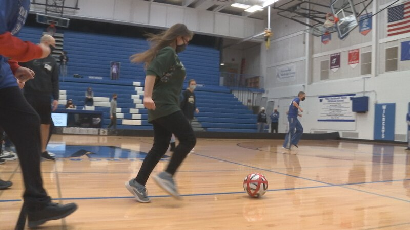 Oshkosh Area School District Adapted Sports League hosts first indoor soccer game.
