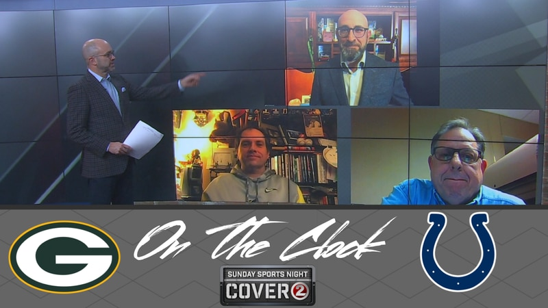 The 'On the Clock' panel featuring ESPN's Rob Demovsky, ESPN Wisconsin's Jason Wilde and WTAQ...