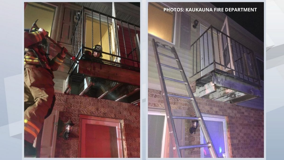 Crews put out a fire at an apartment building in Kaukauna. June 10, 2021