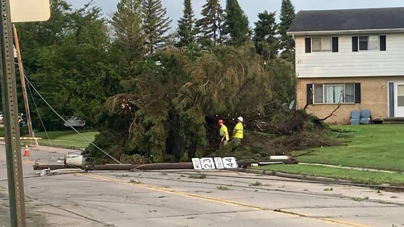 Ripon storm damage. July 29, 2021.