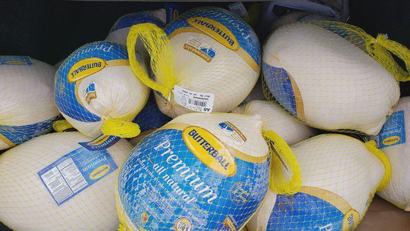 Turkeys for Thanksgiving meals