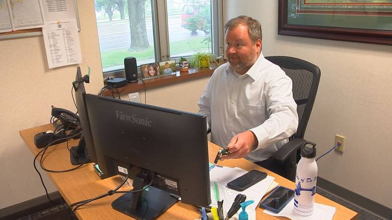 John Bushmaker, the new police social worker at the De Pere Police Department is part of a...