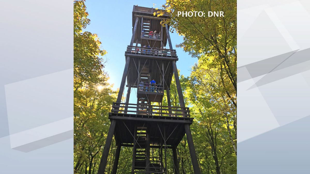 Potawatomi State Park observation tower (Photo: Wisconsin Dept. of Natural Resources)