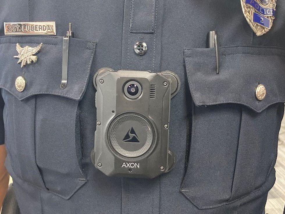 Green Bay Police Sgt. Mike Luberda is among the first group of officers wearing body cameras...