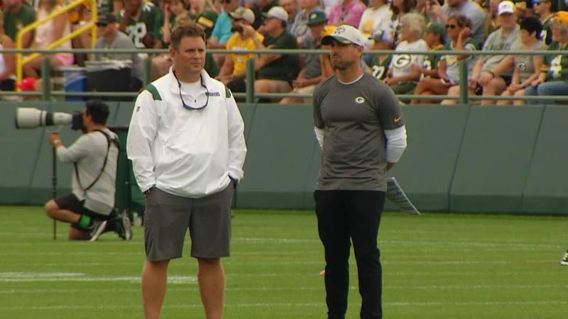 Packers GM Brian Gutekunst and Head Coach Matt LaFleur