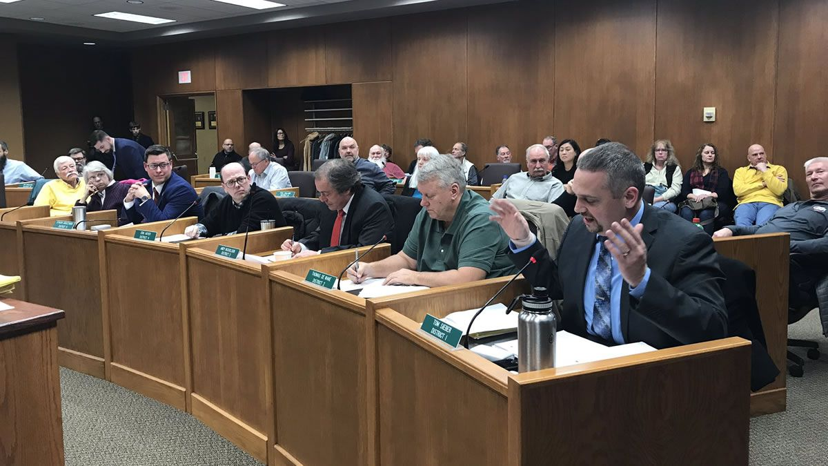 The Brown County Board votes down Second Amendment Sanctuary County proposal.