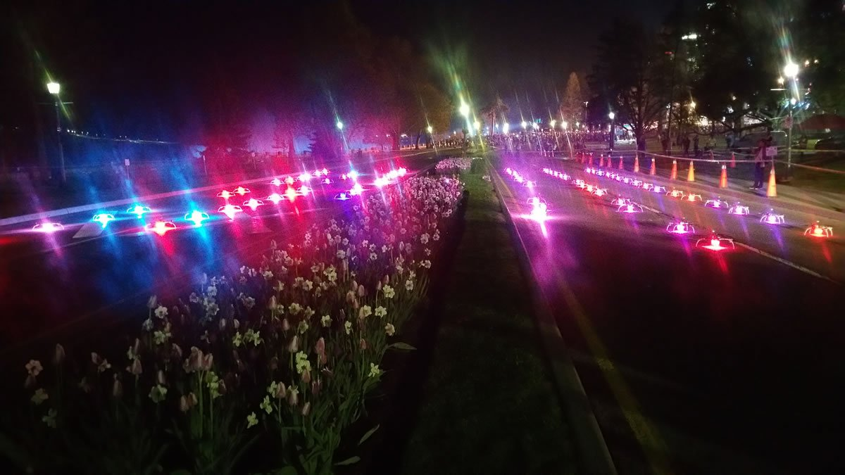 Up to 100 synchronized lighted drones from Michigan-based Great Lakes Drone Company set to...