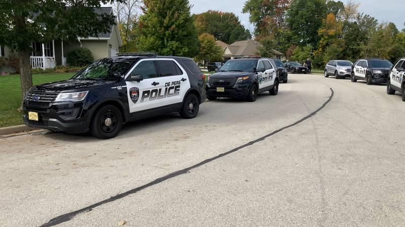 De Pere Police respond to a scene near the East River Trail. Oct. 5, 2021.