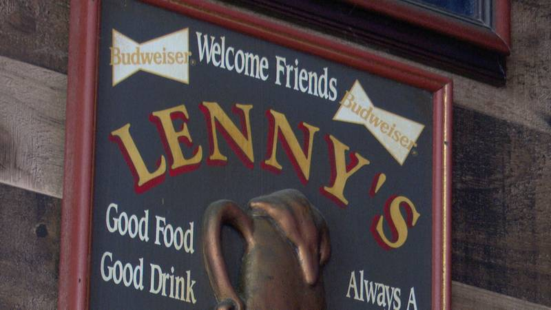 Sign inside Lenny's Tap on N. Broadway in downtown Green Bay