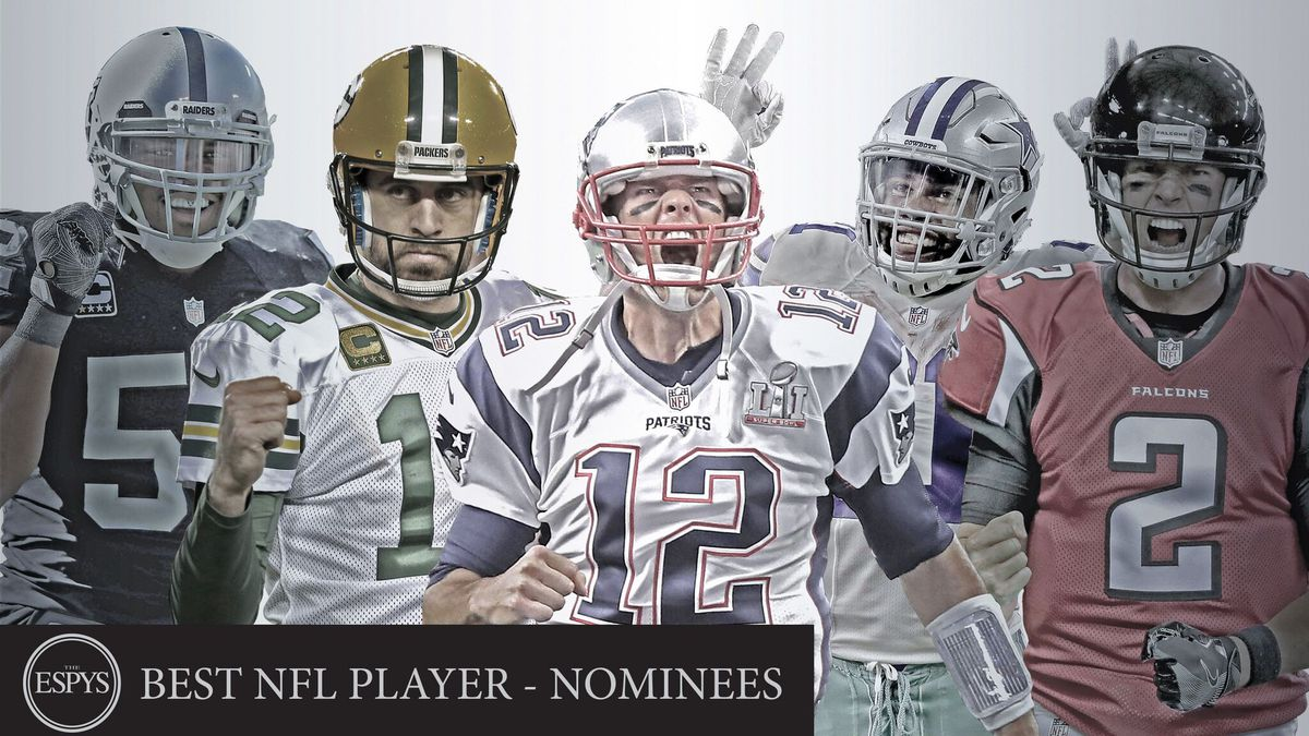 Packers quarterback Aaron Rodgers nominated for Best NFL Player in the 25th ESPYS awards.