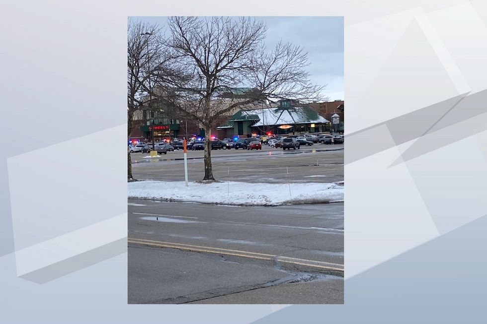 Law enforcement at the scene of an active situation at Fox River Mall.