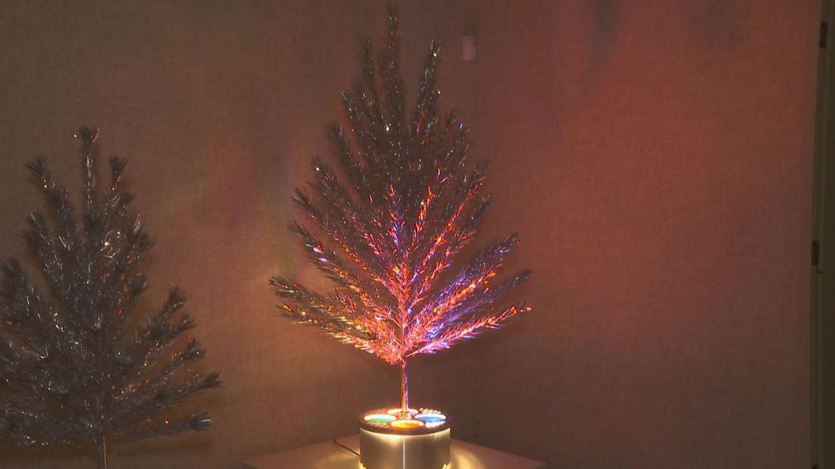 Evergleam aluminum Christmas trees on display