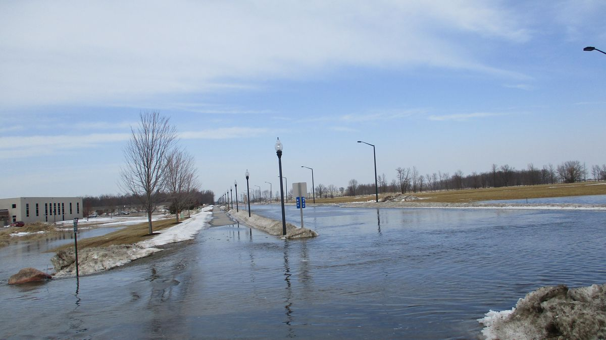 Flooding on County Highway EA in Bellevue. March 2019. (Brown County Public Works)